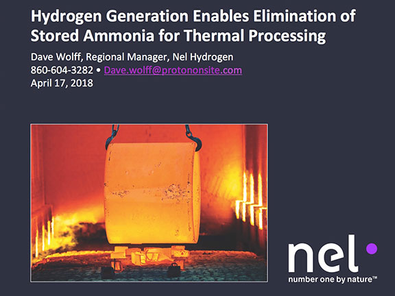 Hydrogen Generation Enables Elimination of Stored Ammonia for Thermal Processing